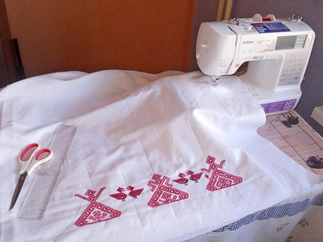 Машинная вышивка для дома 245