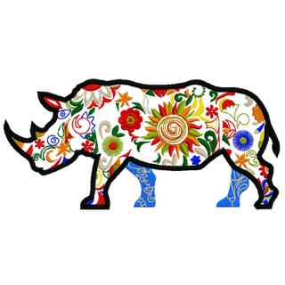 Носорог дизайн машинной вышивки
