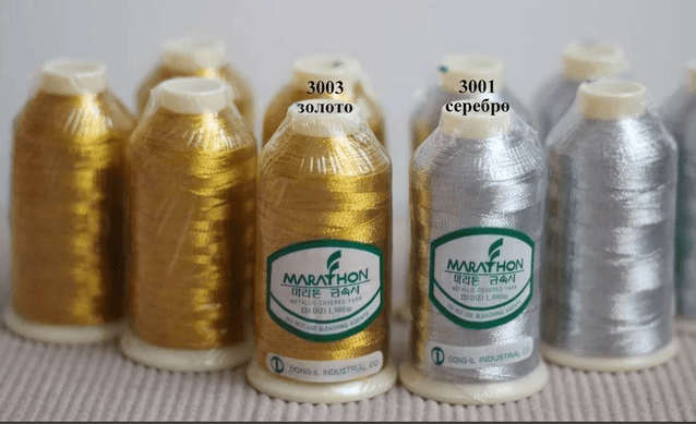 метализированные нити для вышивки