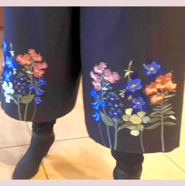 широкие брюки с вышивкой